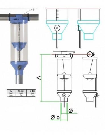 Dozator furaj PVC3 6L FI60