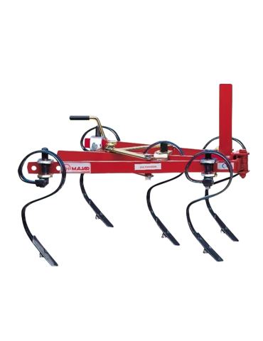 Cultivator ranforsat reglabil pentru motocultor cu 5 dinți flexibili