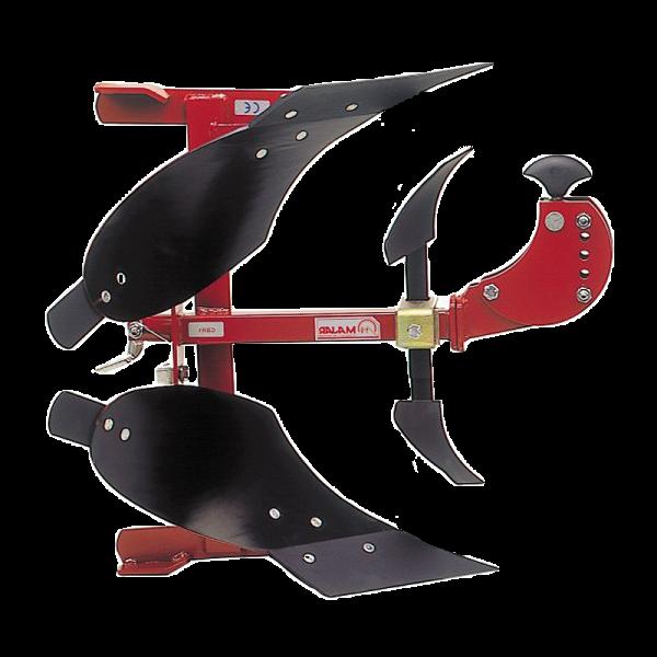 Plug reversibil demi-tur pentru motocultor 8-10 CP brăzdar 20 cm